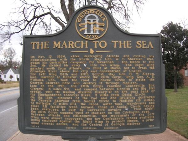 File 011 Civil War Historic Marker Social Circle - Wikimedia Commons