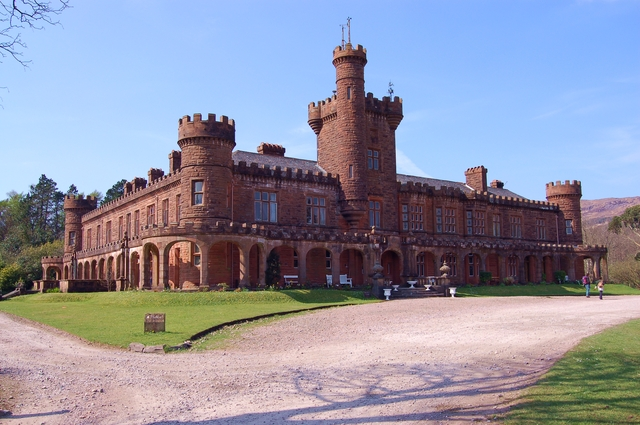 English: Kinloch Castle Kinloch Castle was bui...