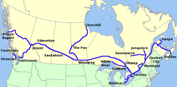 Rail travel in Canada Travel guide at Wikivoyage