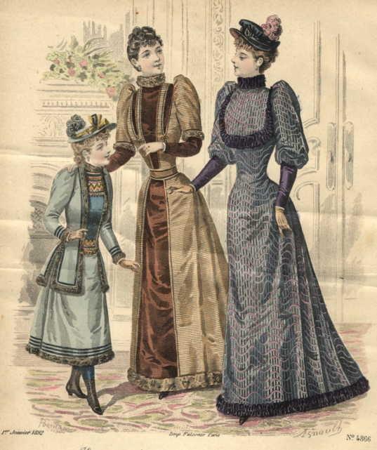 Istorija odevnih predmeta - Page 7 1892_fashion_plate