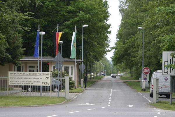 Ehemaliger Eingangsbereich zum Helmholtz-Zentrum Dresden-Rossendorf