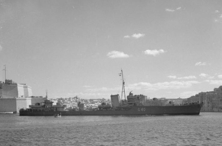 HMS Lively in Malta