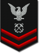 US Navy Petty Officer Second Class shoulder pa...