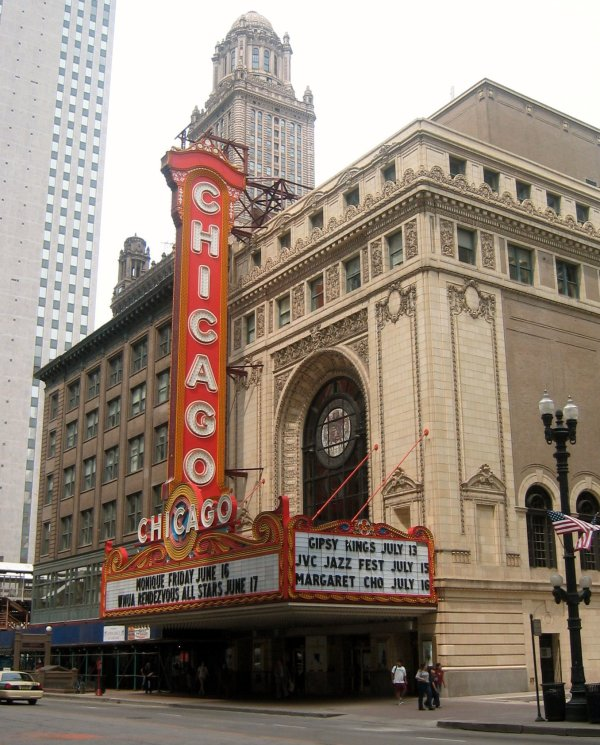 Signs Of World Chicago Theatre Sign