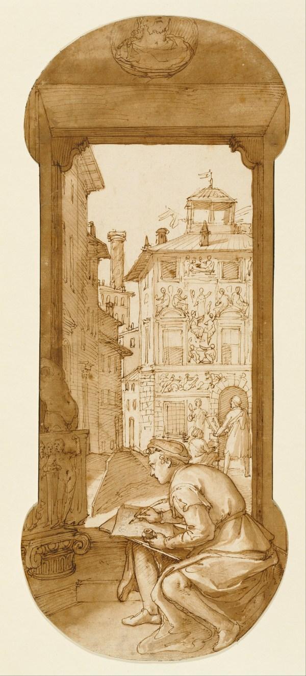 File Federico Zuccaro Italian - Taddeo Drawing