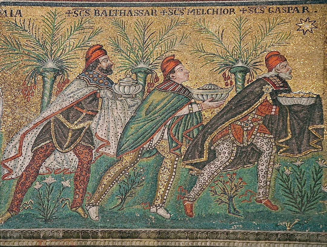 6th Century Mosaic of the Wise Men available on Wikipedia