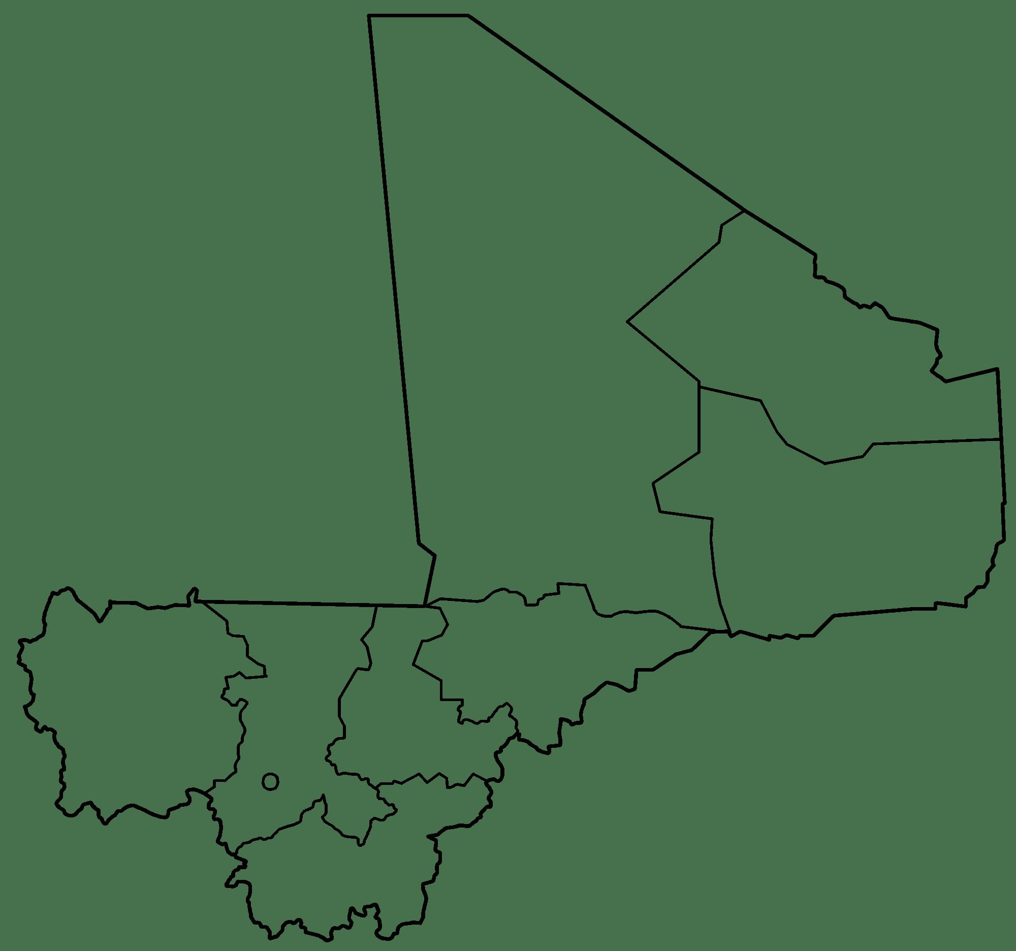 Mali Blank Map