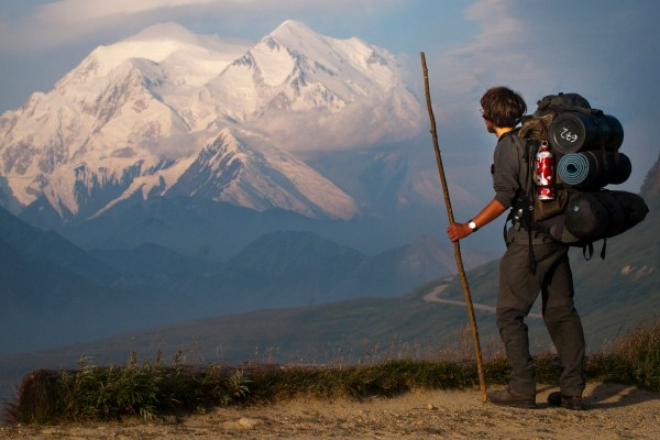 Hiker near Mount McKinley (NPS Photo/Kent Miller)