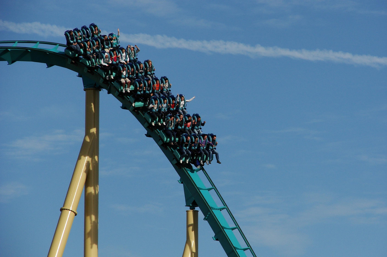 The Kraken roller coaster ride at Sea...
