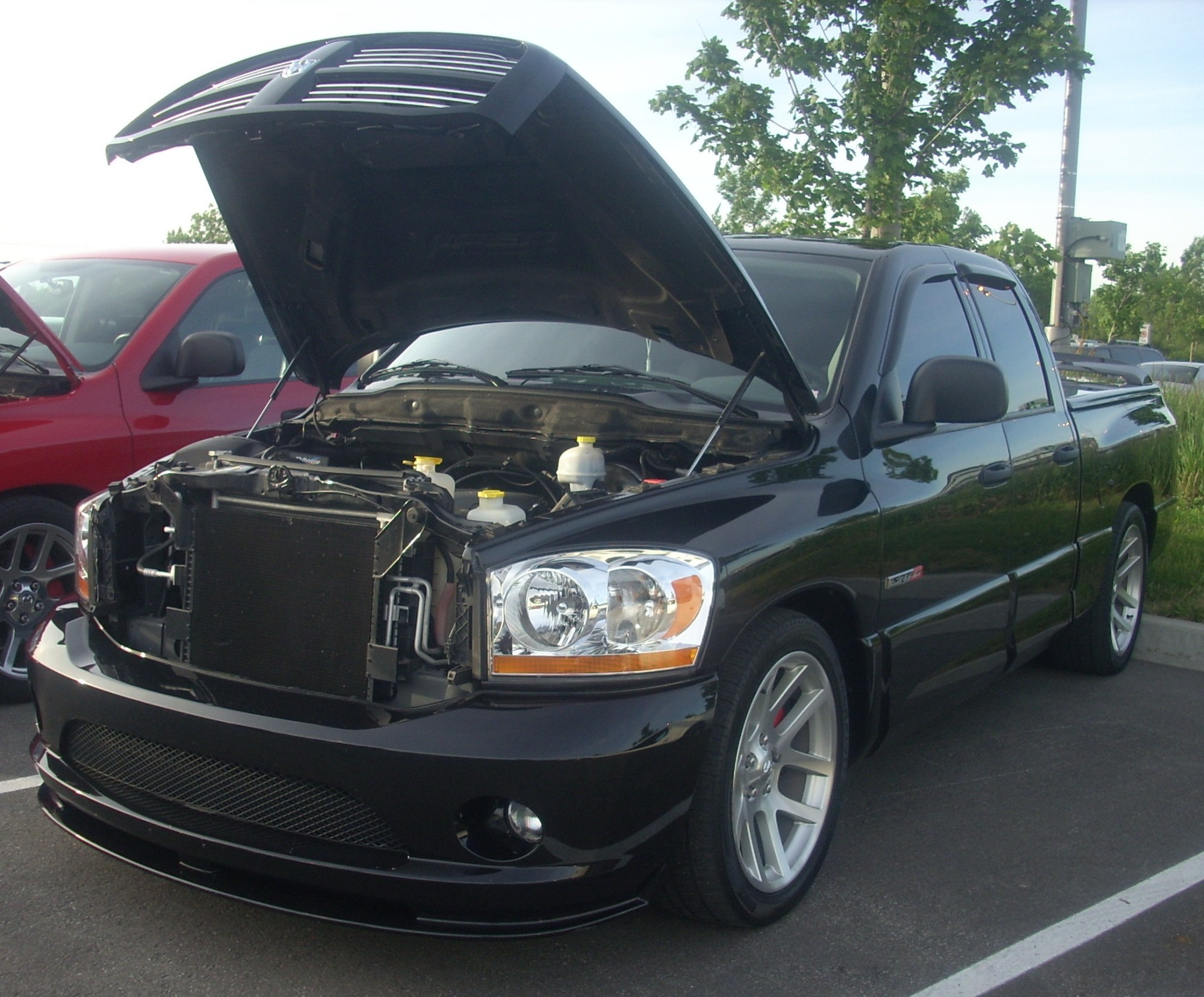 hight resolution of 2006 dodge ram srt 10 crew cab with open hood