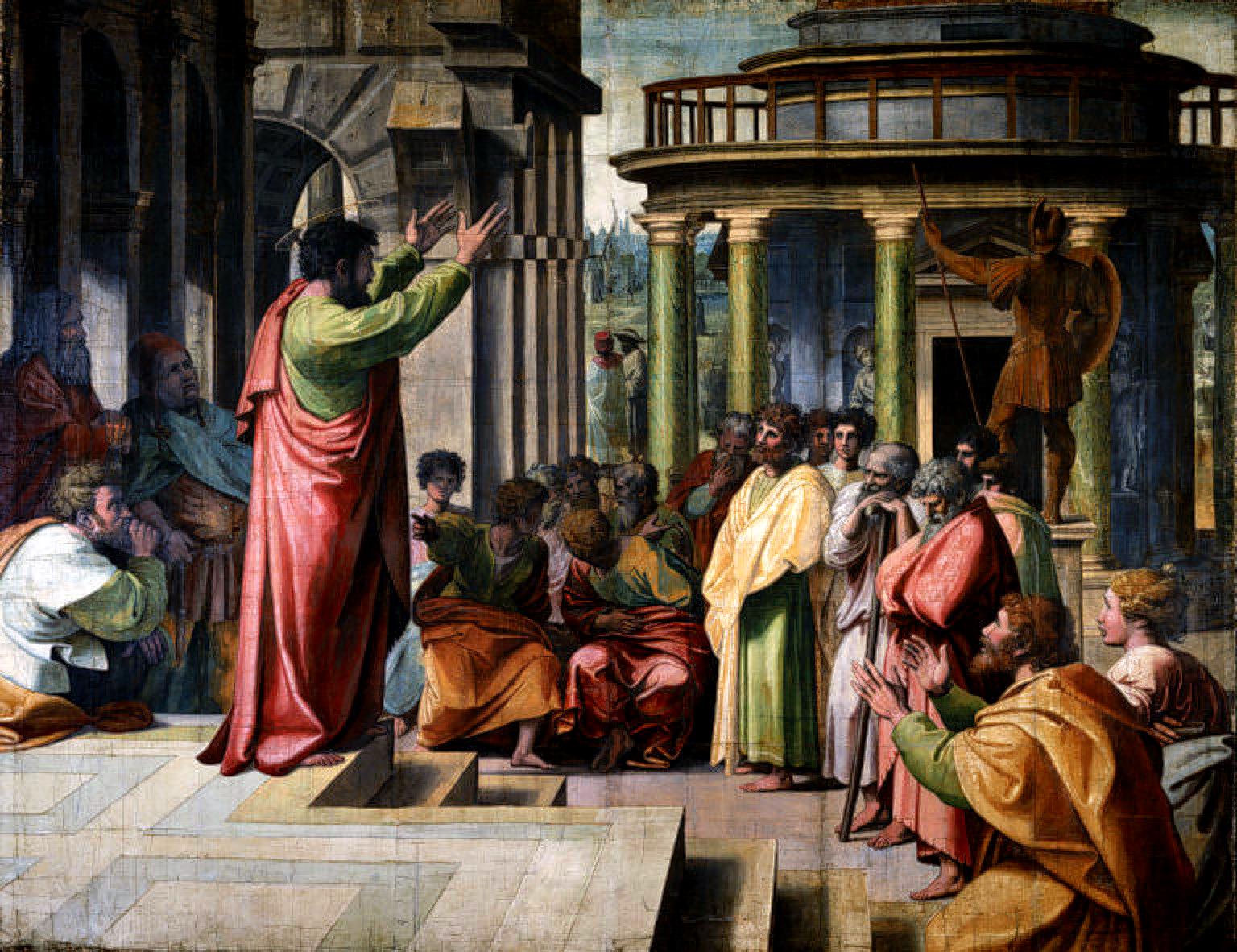 Rafael - Św. Paweł nauczający w Atenach