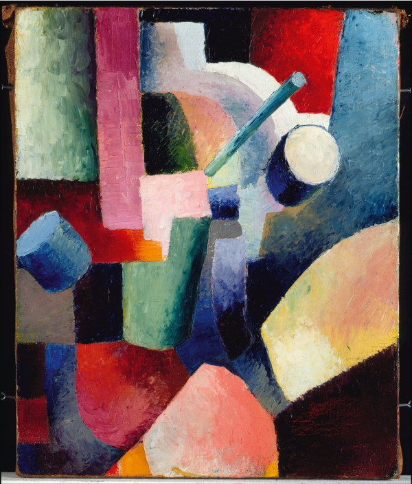 1914 August Macke Colored Forms of Composition