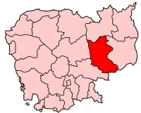 Provincia de Kratie, cuya capital es Kratie