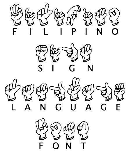 Filipino Sign Language Font