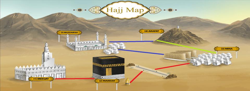 Map Saudi Arabia Hajj