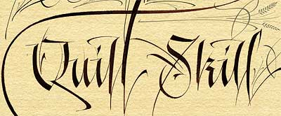 Modern Western calligraphy by Denis Brown