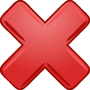 English: A cancelled cross used for the cancel...