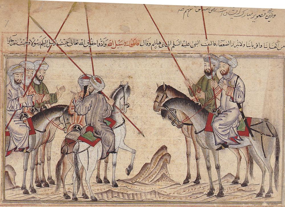Battle of Badr, iranian miniature