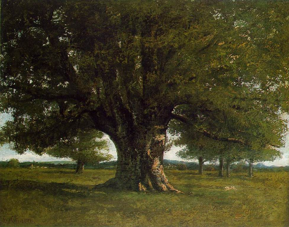 Gustave Courbet - The Oak at Flagey (The Oak o...
