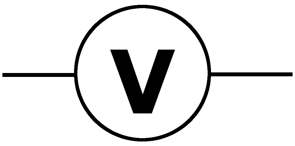 Image result for Voltmeter circuit symbol