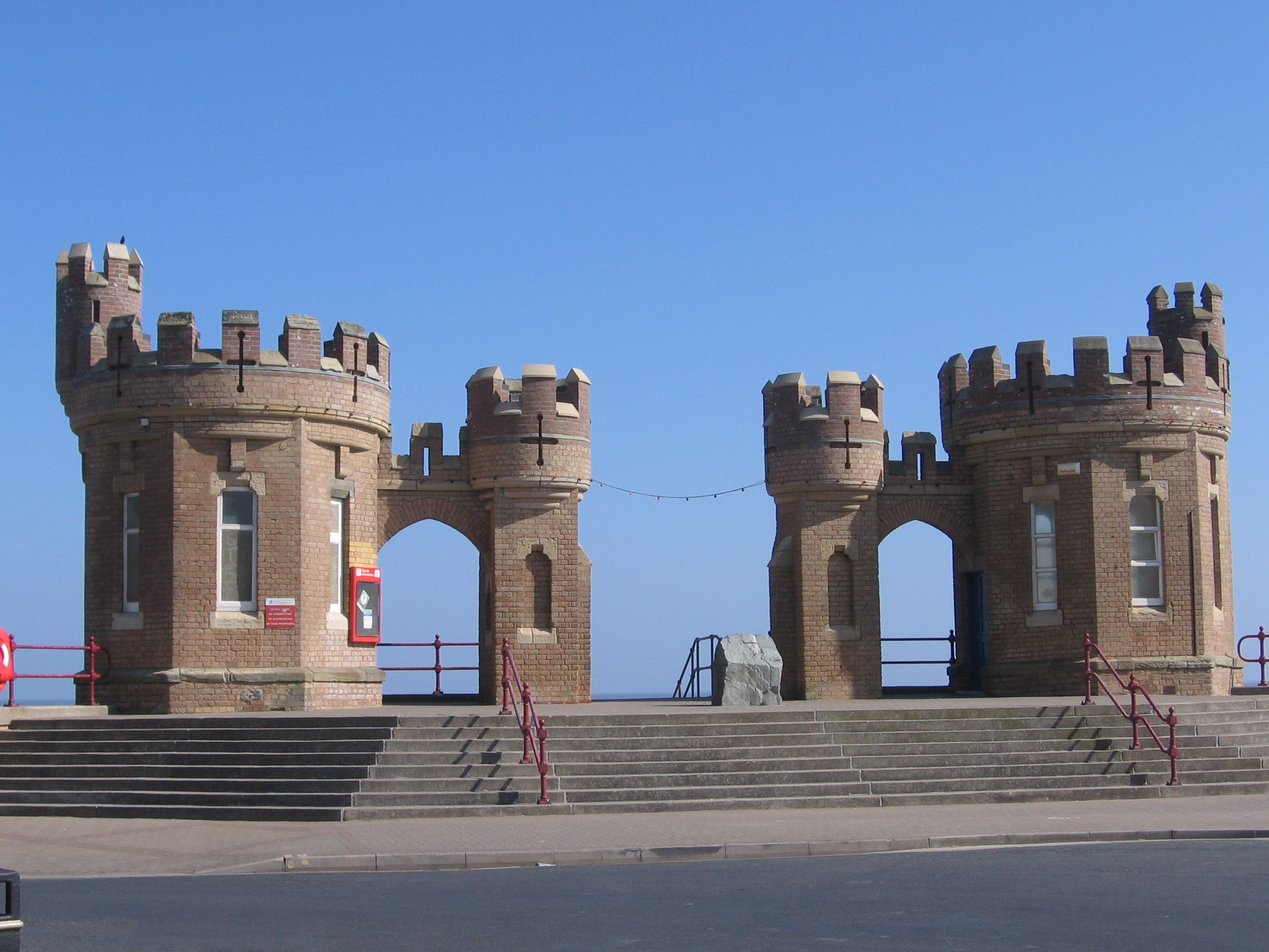 English: Pier Towers, Withernsea, East Riding ...