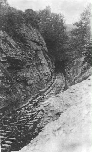 south end of the Argillite, KY train tunnel, photo from Wikipedia