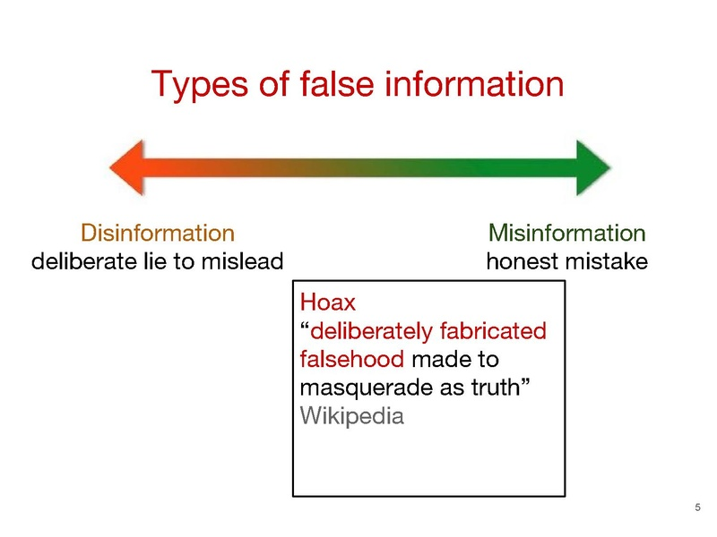 Misinformation Wikipedia