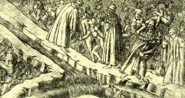 Inf. 16 Baccio Baldini, Dante e Virgilio a col...