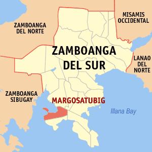 English: Map of Zamboanga del Sur showing the ...