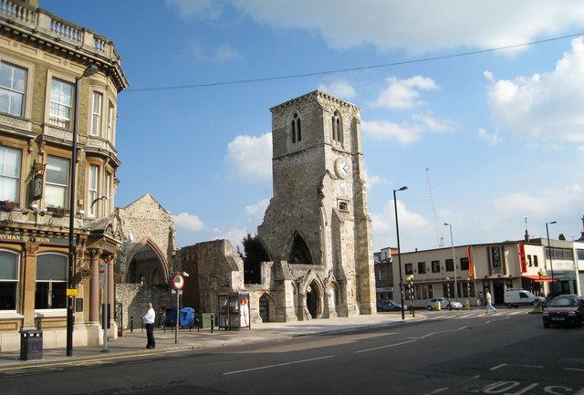 Google Wallpaper Hd File Ruins Of Holy Rood Church High Street Southampton