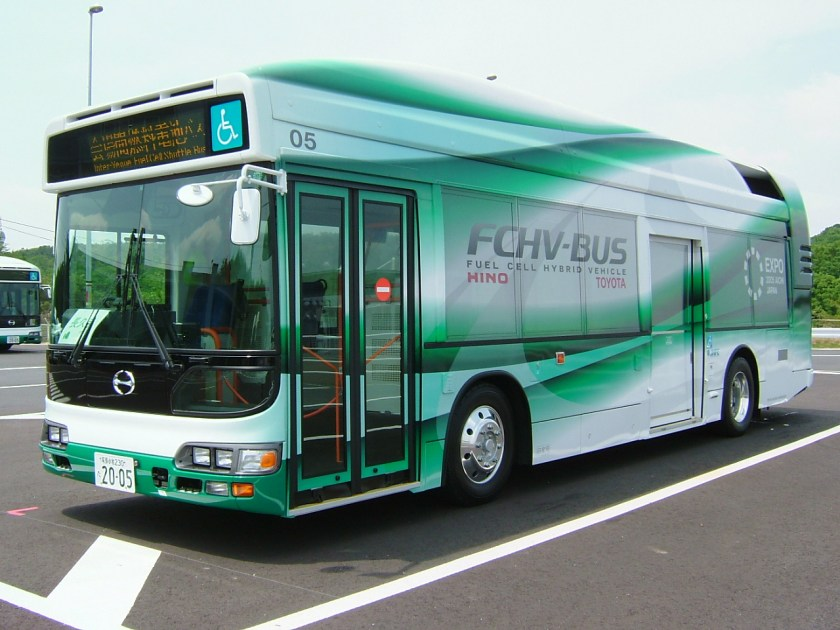 Image result for toyota hydrogen powered bus