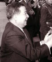 Prince Norodom Sihanouk of Cambodia visiting C...