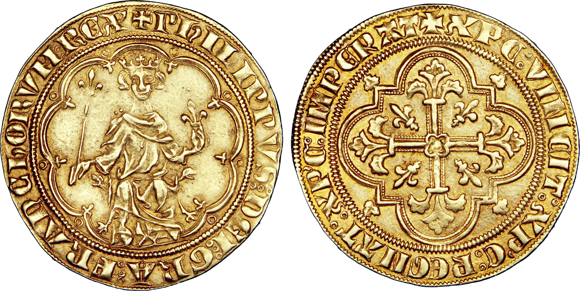 Gold coin of the reign of Philip the Fair.
