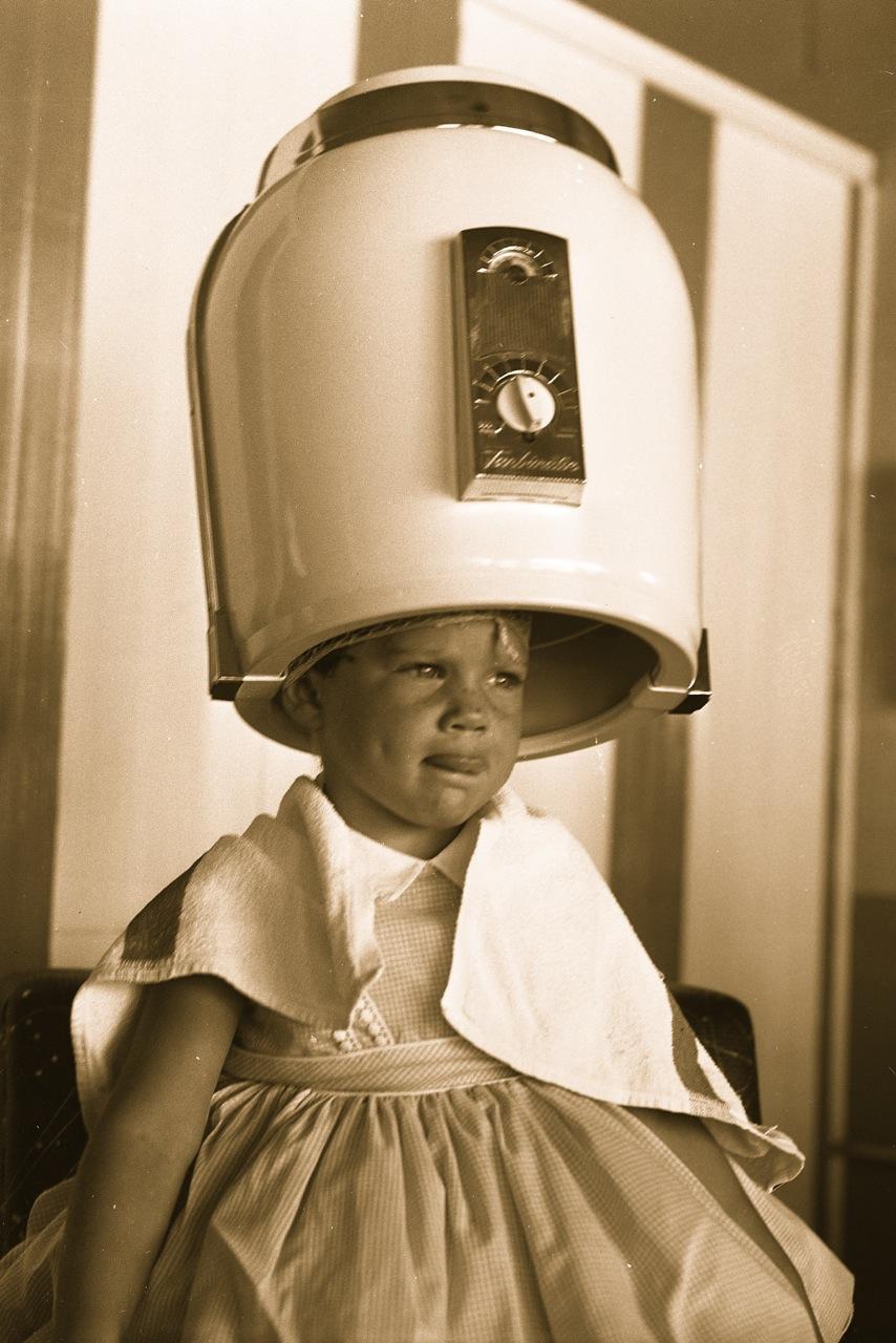 FileGirl under hair dryer 1958jpg  Wikimedia Commons
