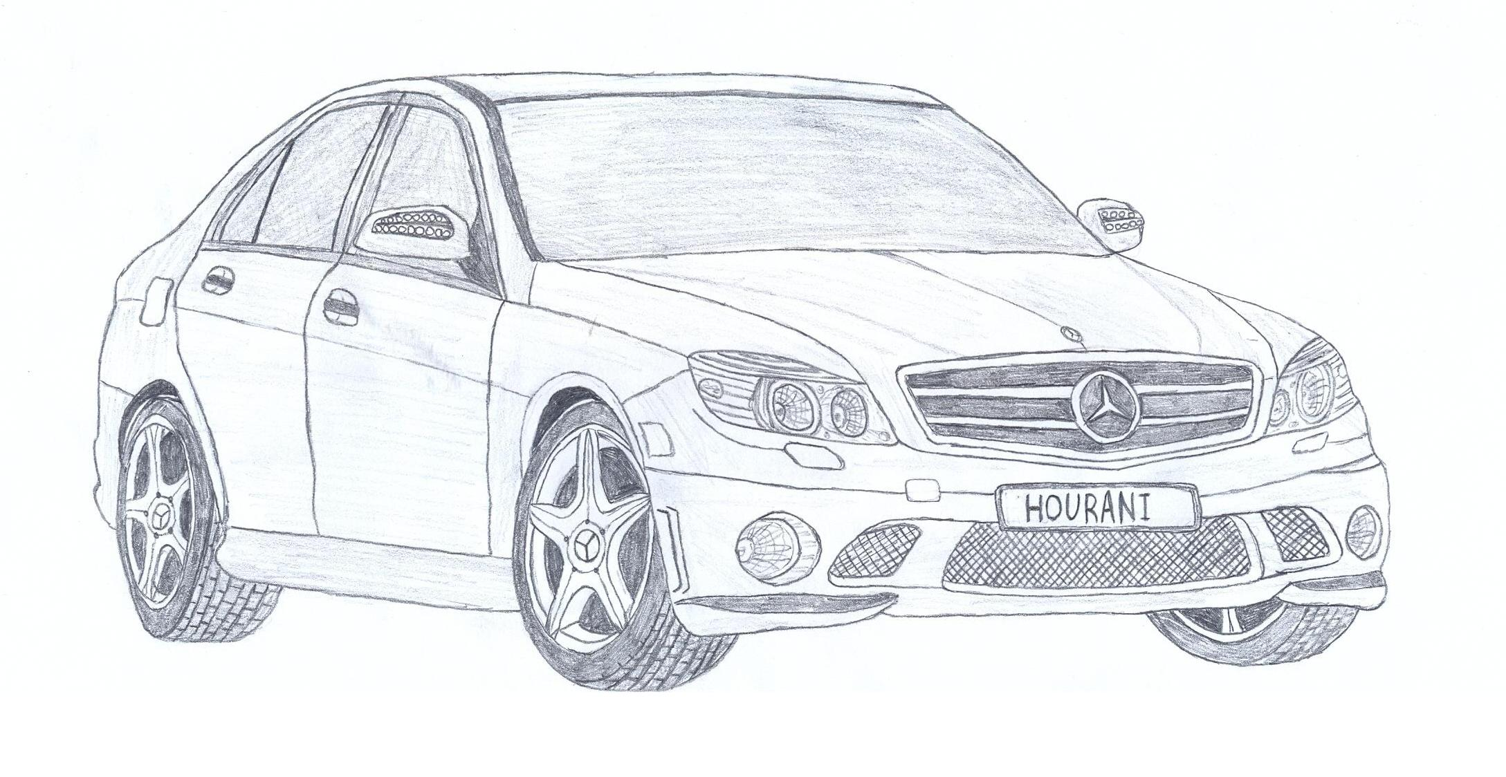 Mercedes Benz C Class Drawing