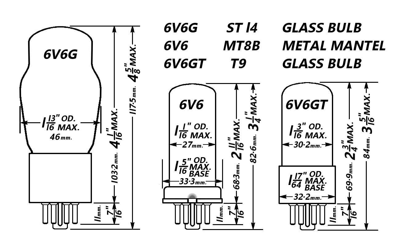 File 6v6 Tube Bulbs