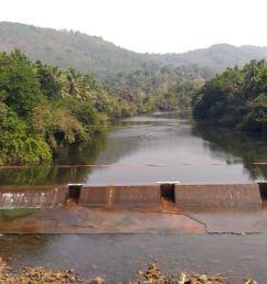 a check dam at kudumboor across chandragiri river [ 4096 x 2304 Pixel ]