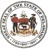The Delaware state seal.