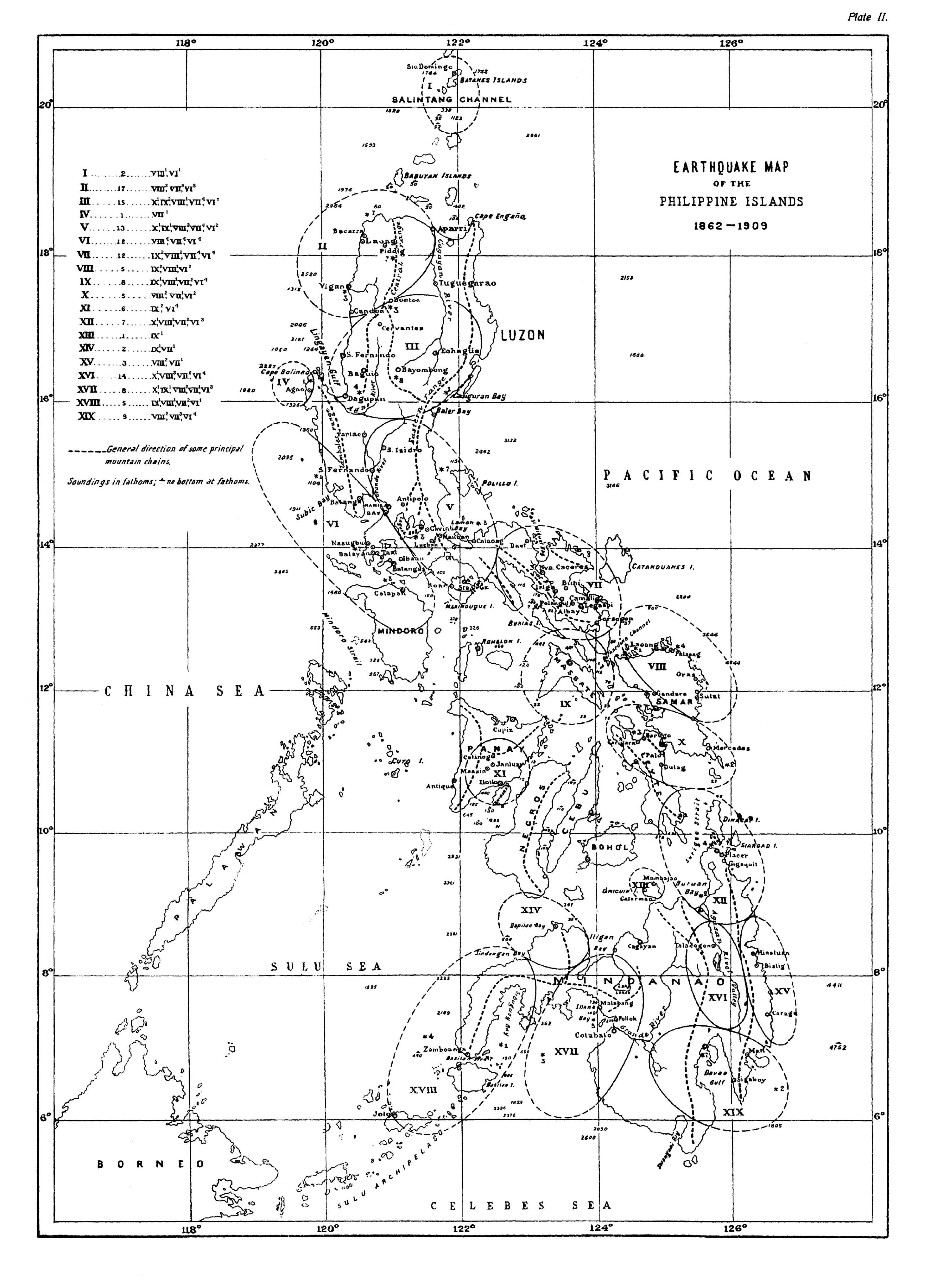 earthquake map in philippines