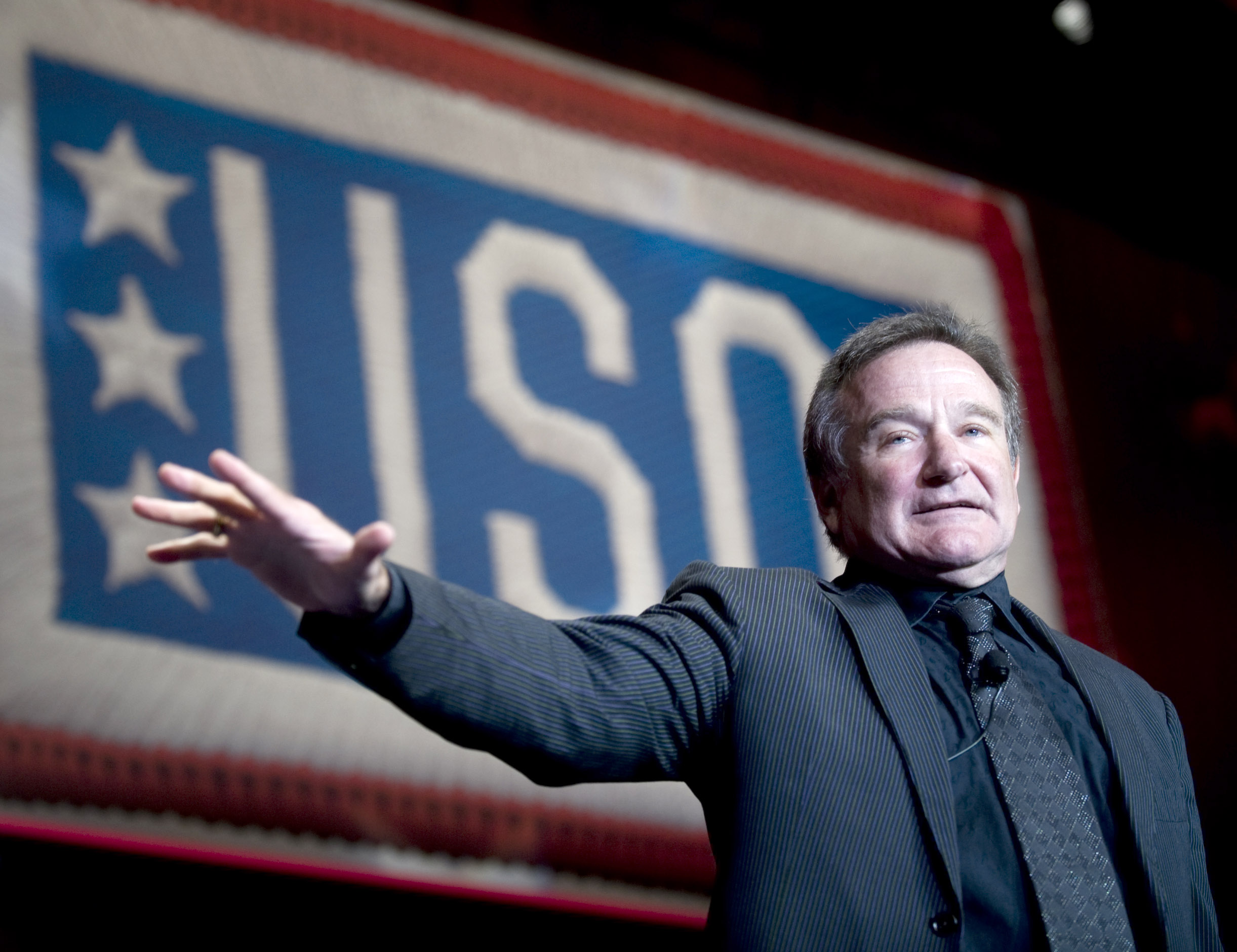 English: Comedian and actor Robin Williams per...