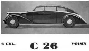 English: An early radical French Voisin C27. I...