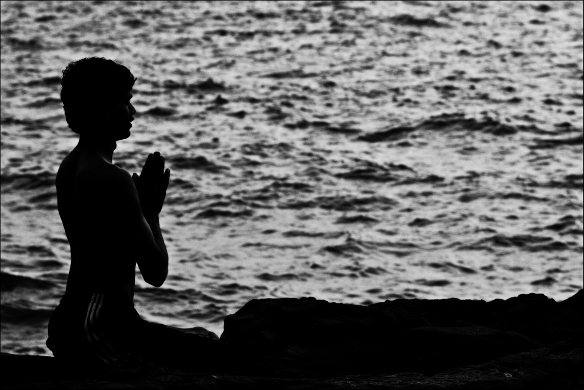 Prayer by the sea by Abhisek Sarda on Flickr. Used under Creative Commons license. http://www.flickr.com/photos/7927132@N08/4540630894