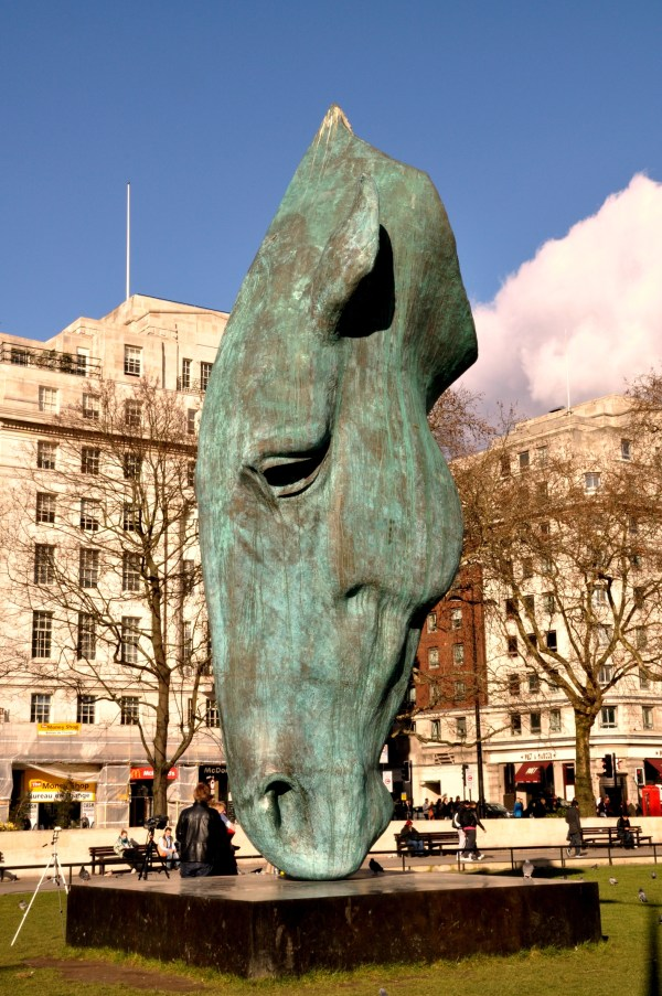File Horse Water Sculpture Marble Arch