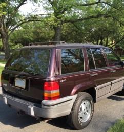file 1993 jeep grand cherokee laredo blackberry with crimson interior 02 jpg [ 3264 x 2448 Pixel ]