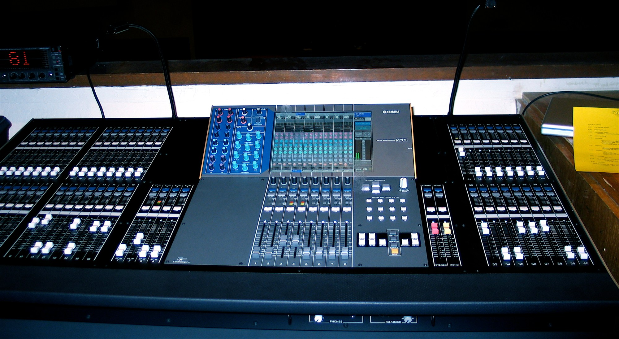 hight resolution of digital mixing console