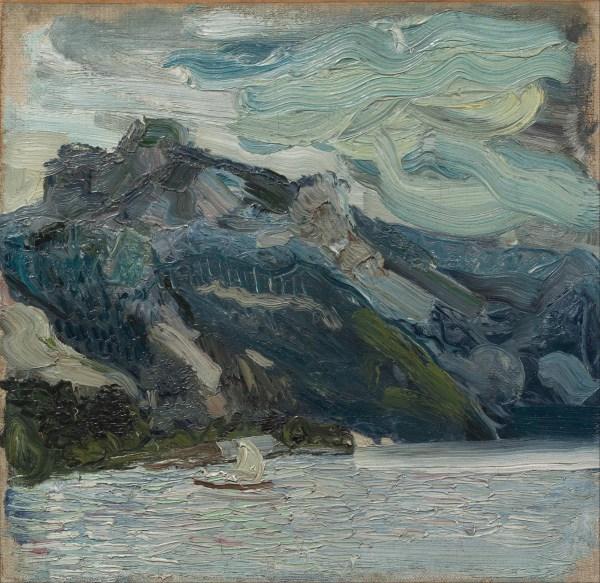 File Richard Gerstl - Lake Traun With Mountain Sleeping Greek Woman Google Art