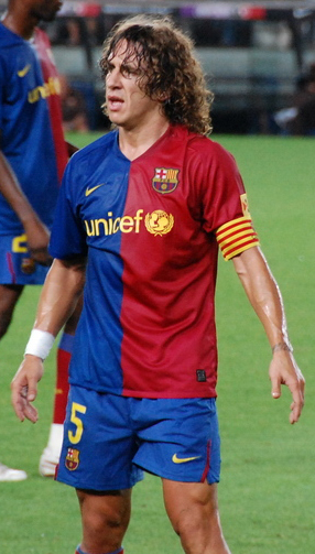 Carles Puyol has been captian of Bracelona since 2003 and time and again he has shown why he was elected to be captian. His big performances in games like this weekends el clasico has solidified him as a Barcelona legend. (Courtesy wikicommons)