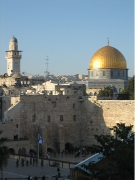 The Dome of the Rock and the Western Wall/ Zap...