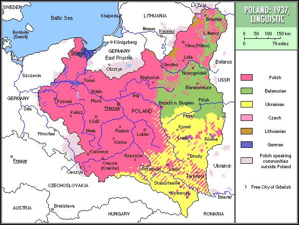 Struktura narodowościowa II RP w 1937 r.