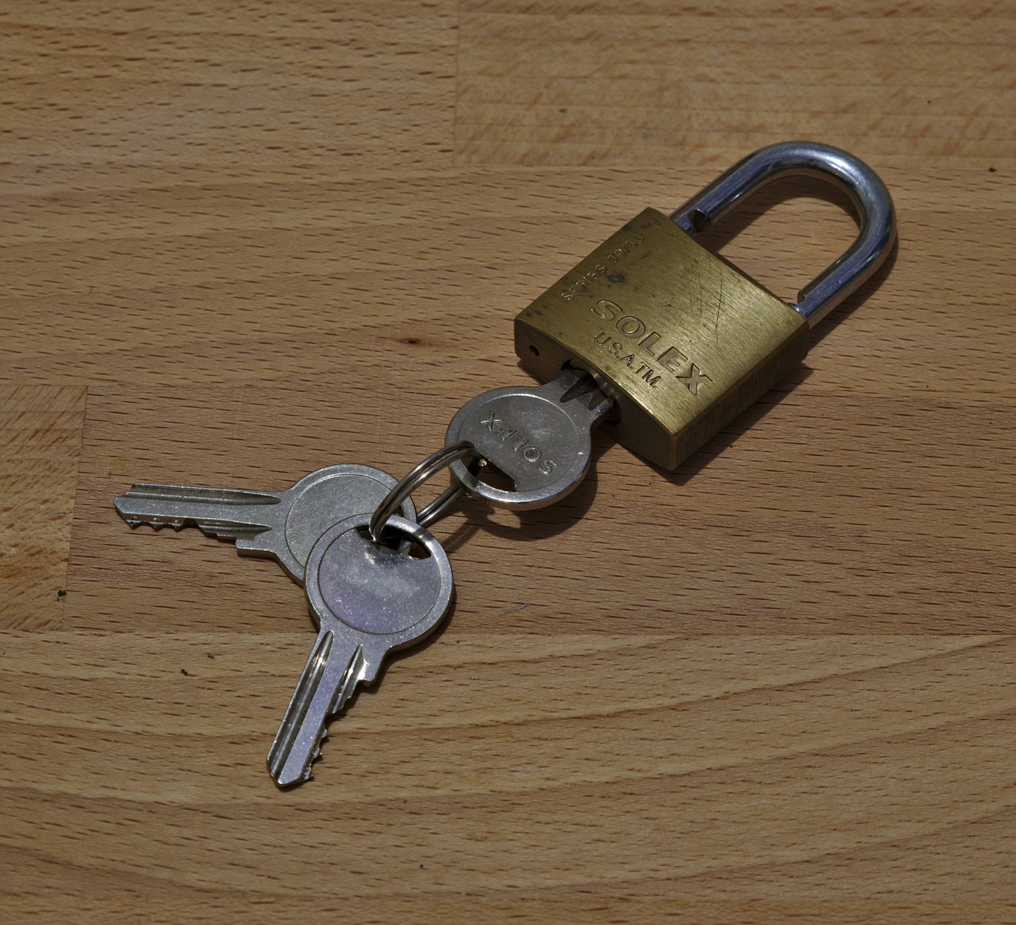 hight resolution of lock and key